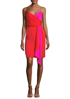 Milly Cindy Two-Tone Stretch-Silk Dress