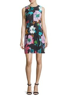 Milly Coco Paper Floral-Print Dress