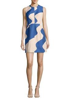 Milly Coco Sleeveless Swirled Jacquard Minidress