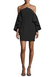 Milly Cold-Shoulder Bell-Sleeve Ponte Dress