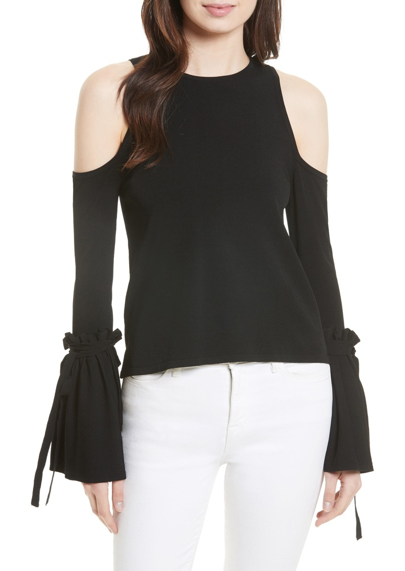 8fe90e52308af On Sale today! Milly Milly Cold Shoulder Knit Tie Sleeve Top