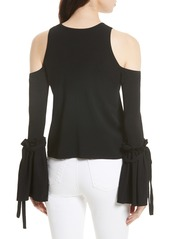 827027318fad1a On Sale today! Milly Milly Cold Shoulder Knit Tie Sleeve Top