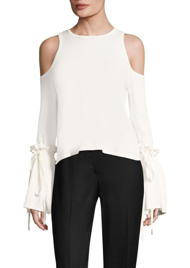 e7dbb28171f66 Milly MILLY Cold-Shoulder Tie Top Now  140.00