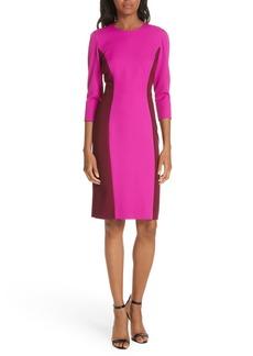 Milly Colorblock Scuba Crepe Body-Con Dress