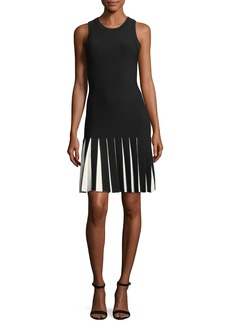 Milly Contrast-Pleated Mermaid Dress