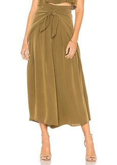 MILLY Cropped Sarong Tie Pant