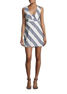 MILLY Cross Back Mini Dress