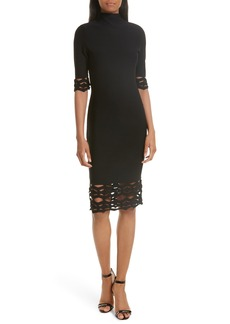 Milly Cutout Detail Sheath Dress
