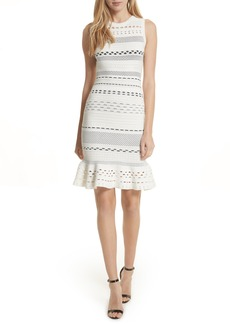 Milly Cutout Lace Knit Dress