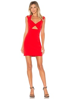 MILLY Cutout Mini Dress in Red. - size 0 (also in 2,4,6)