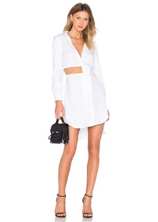 MILLY Cutout Shirt Dress