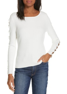 Milly Cutout Sleeve Sweater