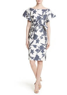 Milly Dakota Floral Jacquard Sheath Dress