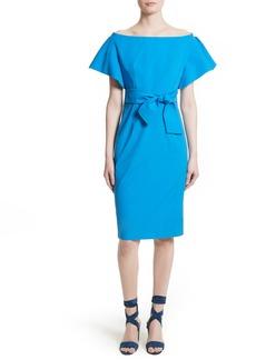 Milly Dakota Stretch Poplin Sheath Dress
