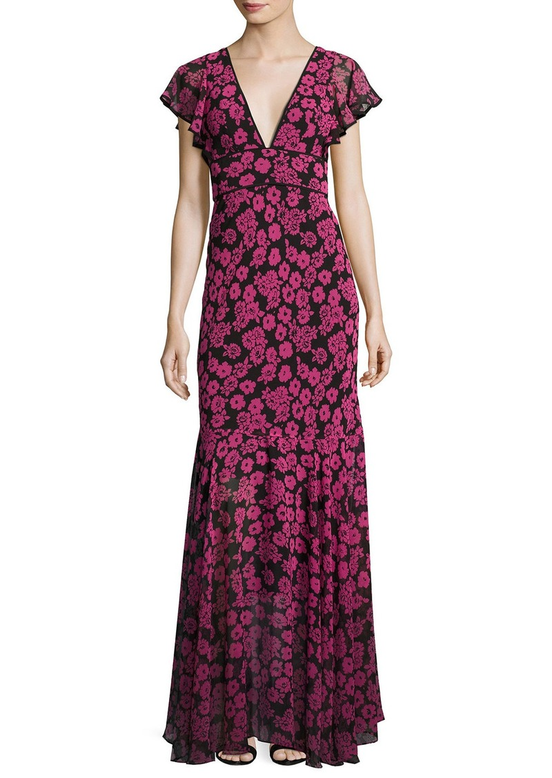 Milly Milly Deni Floral-Print Chiffon Maxi Dress | Dresses
