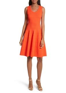 Milly Dégradé Chevron Fit & Flare Dress