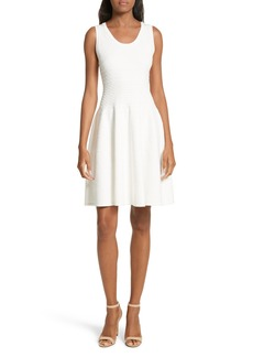Milly Dégradé Chevron Fit & Flare Dress