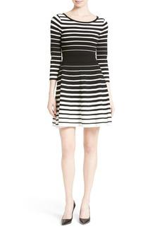 Milly Dégradé Stripe Fit & Flare Dress