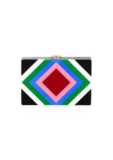 Milly Diamond Square Box Clutch Bag
