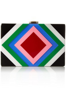 MILLY Diamond Square Box Clutch multi