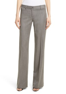 Milly Dickies Straight Leg Gabardine Trousers