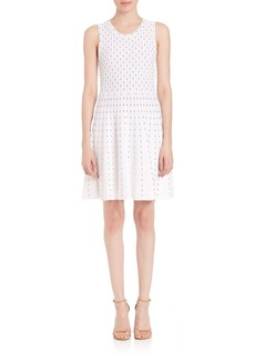 MILLY Dot Fit-&-Flare Dress