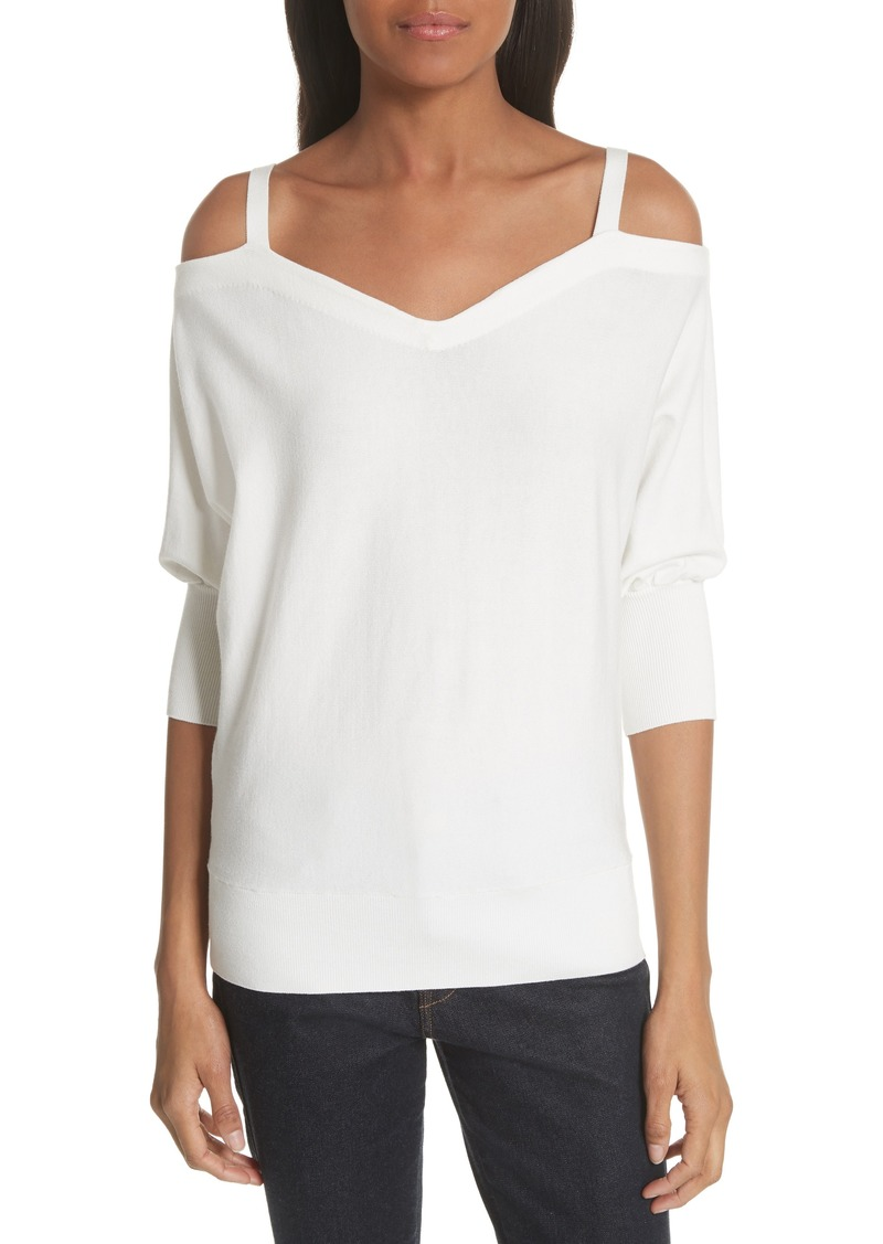 de23c58648bd9 On Sale today! Milly Milly Drama Cold Shoulder Dolman Sleeve Top