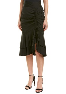 Milly Drawstring Wool-Blend Pencil Skirt