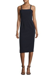 MILLY Elle Crepe Strapped Dress