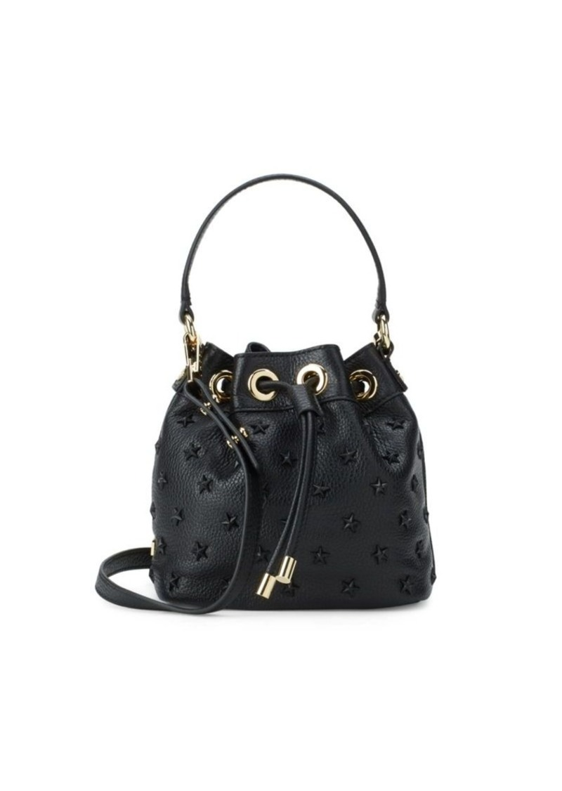 Milly Embossed Leather Bucket Bag