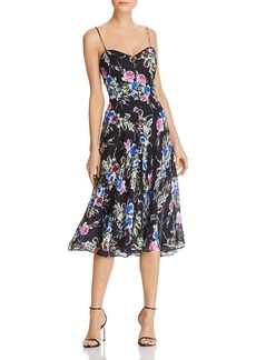 MILLY Emily Floral Silk Dress
