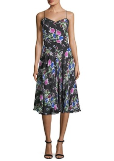 Milly Emily Rose-Print Georgette Dress
