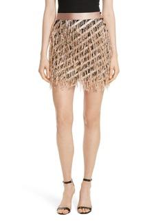 Milly Fil Coupé Diagonal Stripe Miniskirt