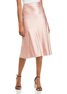MILLY Fion Bias Cut Slip Skirt
