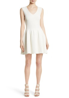 Milly Fit & Flare Knit Dress