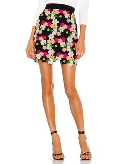 MILLY Floral Crochet Mini Skirt