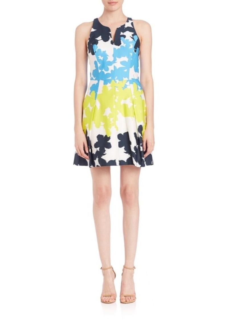 MILLY Floral-Print Racerback Dress