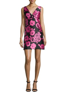 Milly Floral-Print Sleeveless Mini Dress