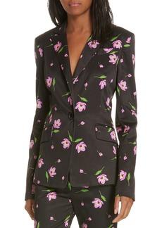 Milly Floral Stretch Blazer