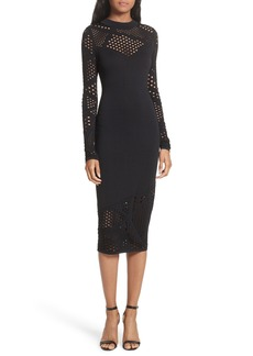 Milly Fractured Pointelle Body-Con Dress