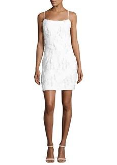 Milly Frayed Jacquard Mini Slip Dress