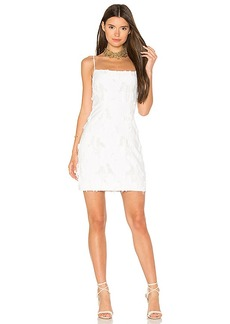 MILLY Frayed Mini Dress in White. - size 6 (also in 2,8)