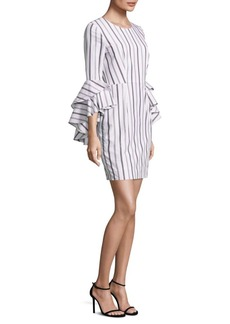 MILLY Gabby Striped Bell Sleeves Dress