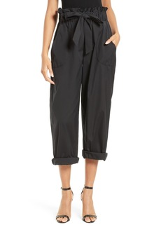 Milly Gathered Stretch Poplin Pants