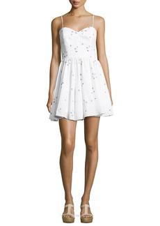 Milly Gemma Surfer-Print Coupé Sweetheart Dress