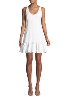 Milly Geneva Sleeveless Peplum Mini Dress