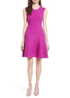 Milly Geo Textured Fit & Flare Dress