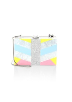 MILLY Geometric Square Box Convertible Clutch