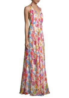 Milly Georgina Floral Print Maxi Dress