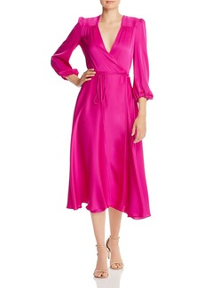 MILLY Gina Silk-Blend Wrap Dress